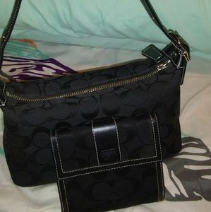 Coach Mini purse and matching wallet